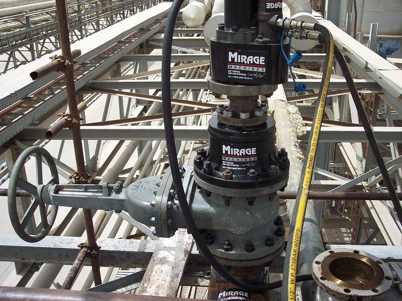 هات تپ ولو و اتصال آب بندی هات تپ  هات تپ و ضرورت آب بندی اتصالات hottap 2 Copy